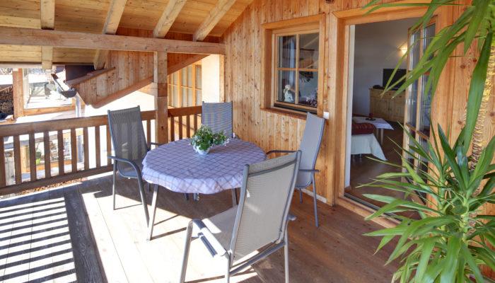 Ferienwohnung Wörle's Bergblick - Terrasse & Balkon